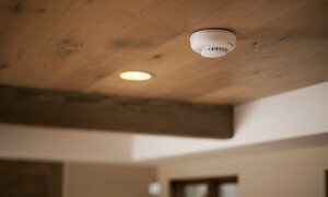 Installed Smoke Alarm In Home